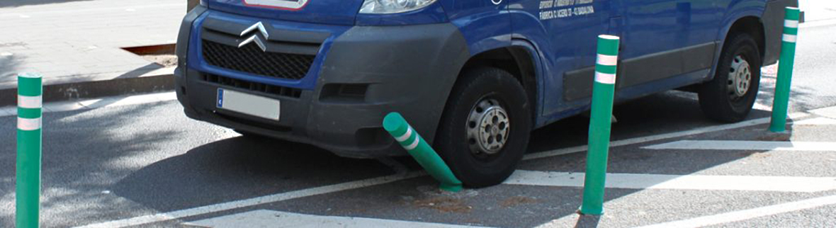 In case of impact, bollards return to their original position and shape