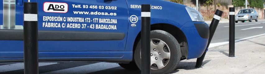 Prueba-impacto-bolardo-flexible-a-resist-aplastada-por-furgoneta